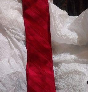 Stafford 100% silk red tie